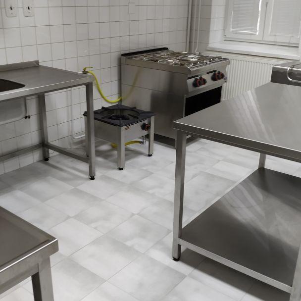 Komplexná rekonštrukcia kuchyne v Kultúrnom dome v Krušovciach