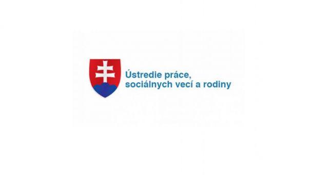 Oznam Úradu práce sociálnych vecí a rodiny